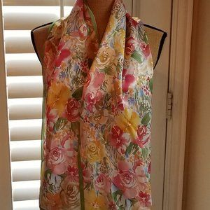 Talbots Floral Oblong Scarf